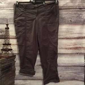 Maurices Khaki Cargo Pants/Capris